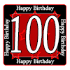 100TH BIRTHDAY COASTER PARTY SUPPLIES