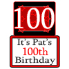 PERSONALIZED 100 YEAR OLD YARD SIGN PARTY SUPPLIES
