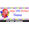 100TH BIRTHDAY BALLOON BLAST DELX BANNER PARTY SUPPLIES