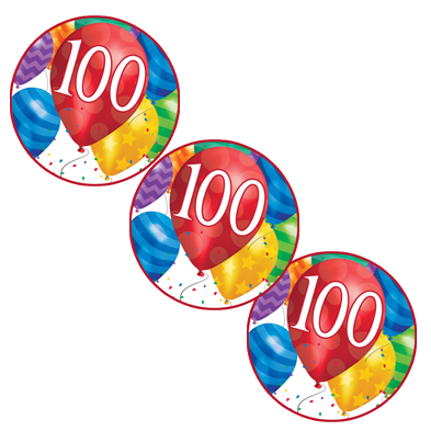 100TH BALLOON BLAST DECO FETTI (24/PKG) PARTY SUPPLIES