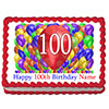 100TH BIRTHDAY BALLOON BLAST EDIBLE IMAG PARTY SUPPLIES