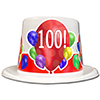 100TH BIRTHDAY BALLOON BLAST TOP HAT PARTY SUPPLIES