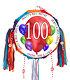 100TH BIRTHDAY BALLOON BLAST PINATA PARTY SUPPLIES