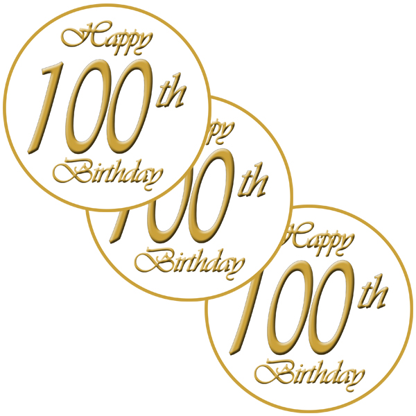 100TH CLASSY DECO FETTI PARTY SUPPLIES