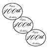 100TH CLASSY BLACK DECO FETTI PARTY SUPPLIES
