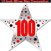 100TH SILVER STAR DECORATION PARTY SUPPLIES