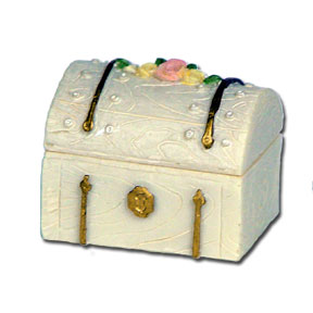 Click for larger picture of CERAMIC TRUNK FAVOR BOX PARTY SUPPLIES