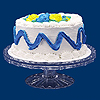 10 IN. CAKE PLATE WITH PEDESTAL PARTY SUPPLIES