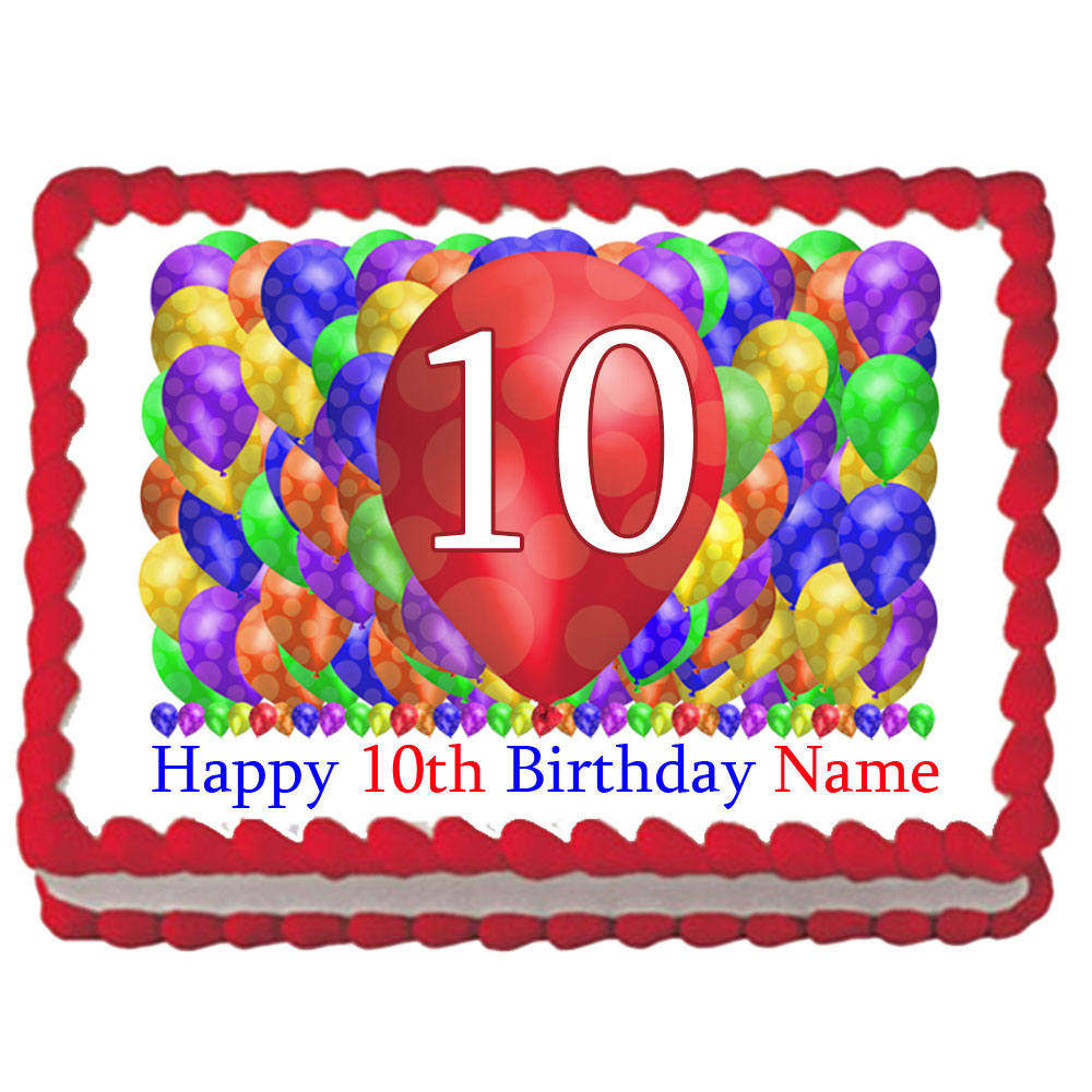 Click For Larger Picture Of 10TH BIRTHDAY BALLOON BLAST EDIBLE IMAGE PARTY SUPPLIES