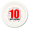 10TH BIRTHDAY DINNER PLATE 8-PKG PARTY SUPPLIES