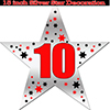 10TH SILVER STAR DECORATION PARTY SUPPLIES