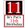 PERSONALIZED 11 YEAR OLD YARD SIGN PARTY SUPPLIES