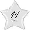 11 YEARS CLASSY BLACK STAR BALLOON PARTY SUPPLIES