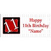 PERSONALIZED  11 YEAR OLD BANNER PARTY SUPPLIES