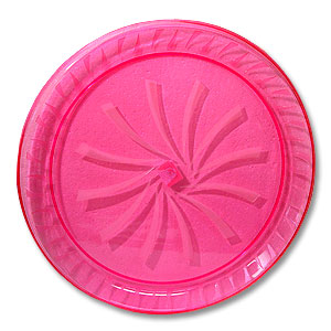 Click for larger picture of PINK SERVING TRAY (16 IN.) PARTY SUPPLIES