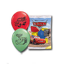 Click for larger picture of DISNEY'S CARS LATEX BALLOONS (6CT) PARTY SUPPLIES