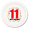 11TH BIRTHDAY DINNER PLATE 8-PKG PARTY SUPPLIES