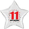 11TH BIRTHDAY STAR BALLOON PARTY SUPPLIES