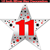 11TH SILVER STAR DECORATION PARTY SUPPLIES