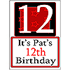 PERSONALIZED 12 YEAR OLD YARD SIGN PARTY SUPPLIES
