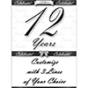 12 YEARS CLASSY BLACK DOOR BANNER PARTY SUPPLIES