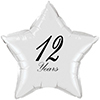 12 YEARS CLASSY BLACK STAR BALLOON PARTY SUPPLIES