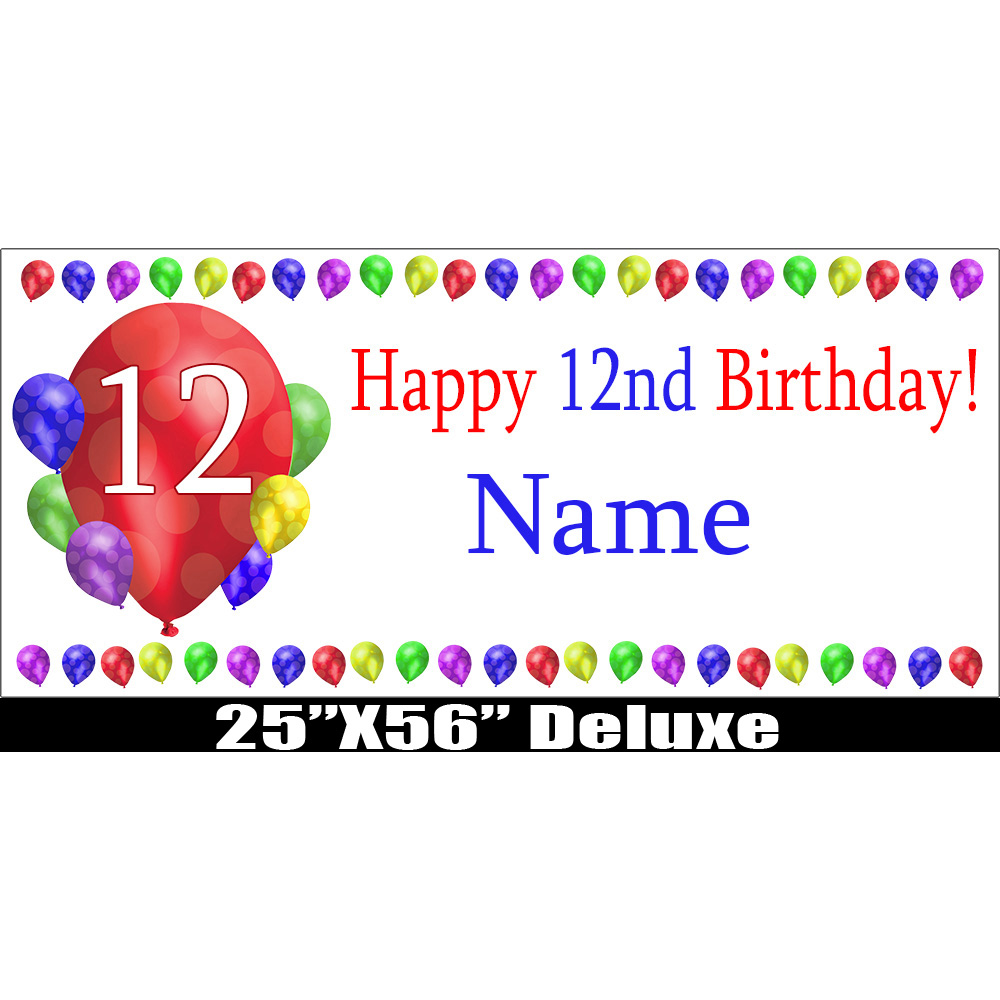 Click For Larger Picture Of 12TH BIRTHDAY BALLOON BLAST DELUX BANNER PARTY SUPPLIES