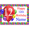 12TH BALLOON BLAST CUSTOMIZED PLACEMAT PARTY SUPPLIES
