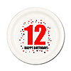 12TH BIRTHDAY DESSERT PLATE 8-PKG PARTY SUPPLIES