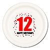 12TH BIRTHDAY DINNER PLATE 8-PKG PARTY SUPPLIES