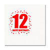 12TH BIRTHDAY LUNCHEON NAPKIN 16-PKG PARTY SUPPLIES