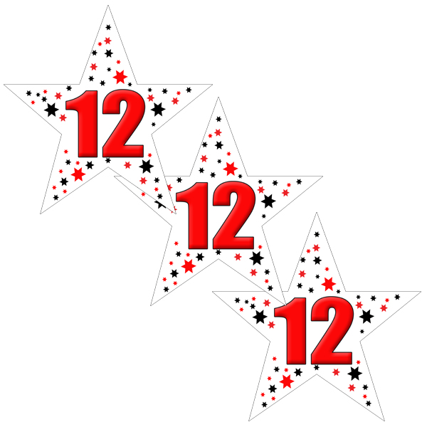 12TH BIRTHDAY STAR DECO FETTI PARTY SUPPLIES