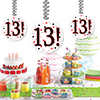 13! DANGLER DECORATION 3/PKG PARTY SUPPLIES