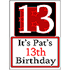 PERSONALIZED 13 YEAR OLD YARD SIGN PARTY SUPPLIES