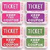 DOUBLE ROLL TICKETS PINK/PURPL/RED/GREEN PARTY SUPPLIES