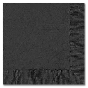 Click for larger picture of BLACK 2 PLY BEVERAGE NAPKIN (600/CS) PARTY SUPPLIES