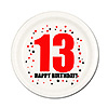 13TH BIRTHDAY DESSERT PLATE 8-PKG PARTY SUPPLIES