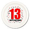 13TH BIRTHDAY DINNER PLATE 8-PKG PARTY SUPPLIES