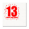 13TH BIRTHDAY LUNCHEON NAPKIN 16-PKG PARTY SUPPLIES