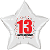 13TH BIRTHDAY STAR BALLOON PARTY SUPPLIES