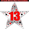 13TH SILVER STAR DECORATION PARTY SUPPLIES