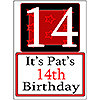 PERSONALIZED 14 YEAR OLD YARD SIGN PARTY SUPPLIES