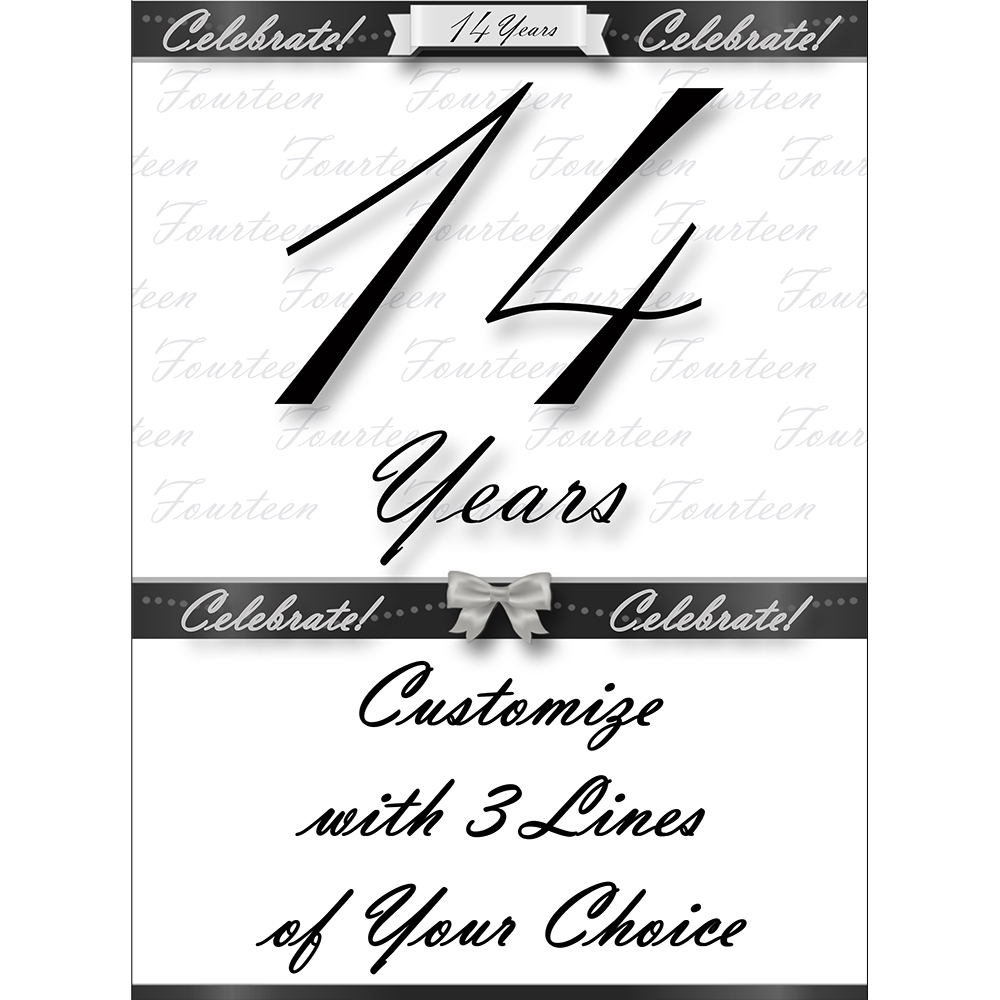 Click for larger picture of 14 YEARS CLASSY BLACK DOOR BANNER PARTY SUPPLIES