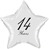 14 YEARS CLASSY BLACK STAR BALLOON PARTY SUPPLIES