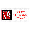 PERSONALIZED  14 YEAR OLD BANNER PARTY SUPPLIES