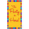 DISCONTINUED BD STRIPES DOOR SIGN PARTY SUPPLIES