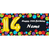 BALLOON 14TH BIRTHDAY CUSTOMIZED BANNER PARTY SUPPLIES