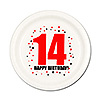 14TH BIRTHDAY DESSERT PLATE 8-PKG PARTY SUPPLIES