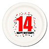 14TH BIRTHDAY DINNER PLATE 8-PKG PARTY SUPPLIES