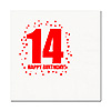 14TH BIRTHDAY LUNCHEON NAPKIN 16-PKG PARTY SUPPLIES
